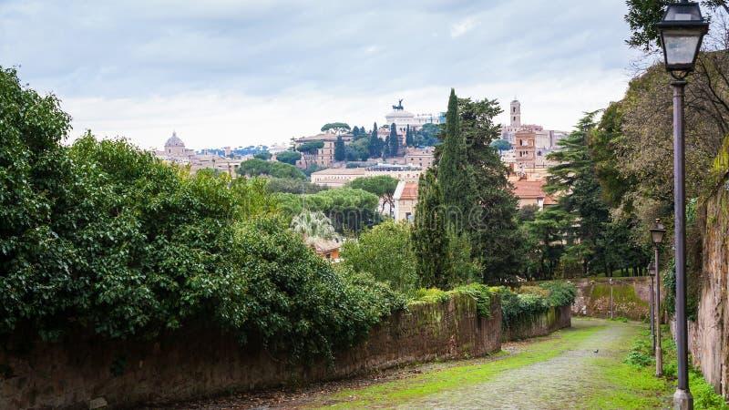 Widok Kapitoliński wzgórze od Aventine wzgórza w Rzym zdjęcie royalty free