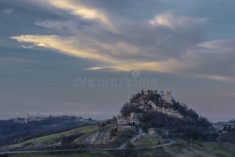 Widok kasztel Canossa obrazy royalty free