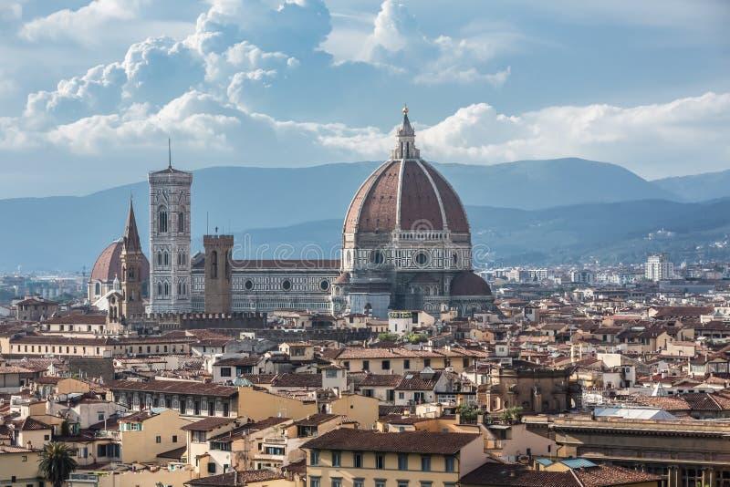 Widok katedra Santa Maria Del Fiore w Florencja, Włochy zdjęcia stock