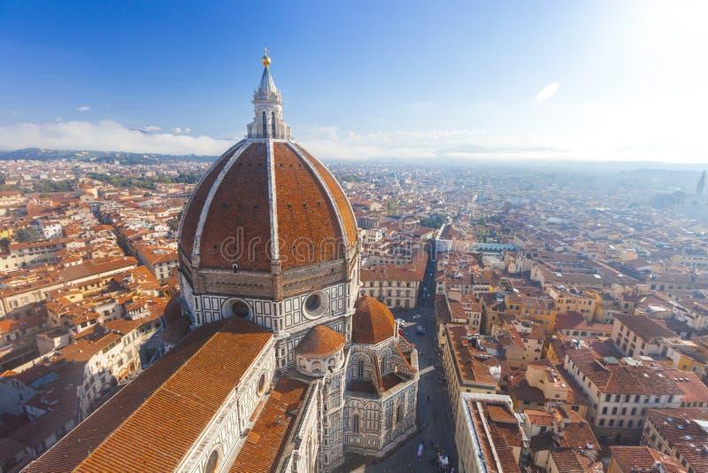Widok Katedralny Santa Maria Del Fiore w Florencja, Włochy fotografia stock