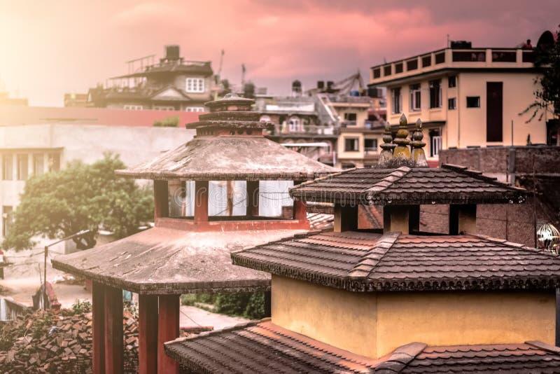 Widok Kathmandu pejzaż miejski, Nepal obrazy stock