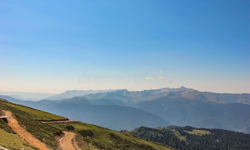 Widok Kaukaz góry, Rosa Khutor, Sochi, Rosja, 2014 zdjęcia royalty free