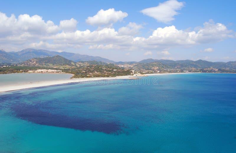 Widok kawałek kolorowa natura w Villasimius dowcipie (Sardinia) obrazy royalty free