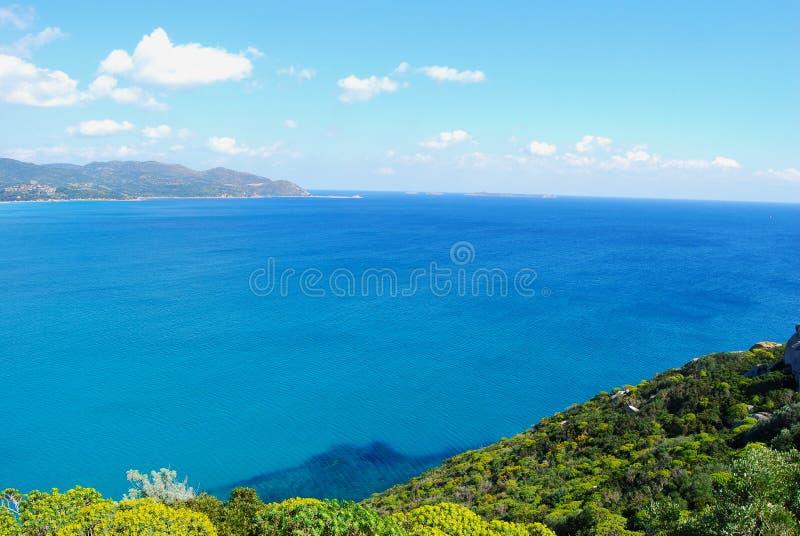 Widok kawałek kolorowa natura w Villasimius dowcipie (Sardinia) fotografia royalty free