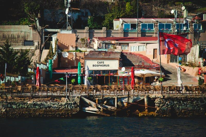 Widok kawiarnia przy Istanbuł, Turcja obrazy royalty free