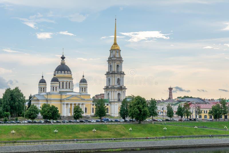 Widok Kazan kościół i bulwar obraz royalty free