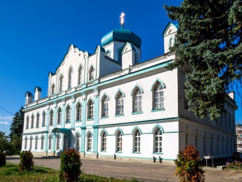 Widok kościół St John teologa Kon-Kolodez wioska, Lipetsk region zdjęcia stock