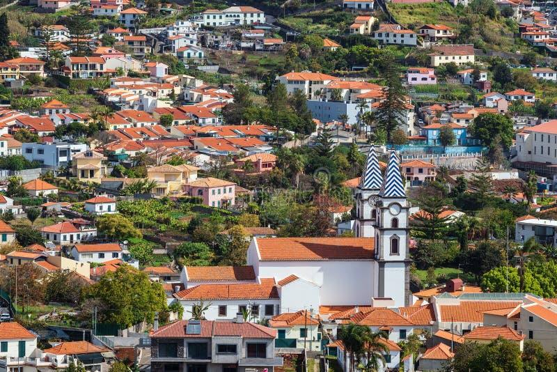 Widok kościół w Funchal na wyspy maderze, Portugalia zdjęcie stock