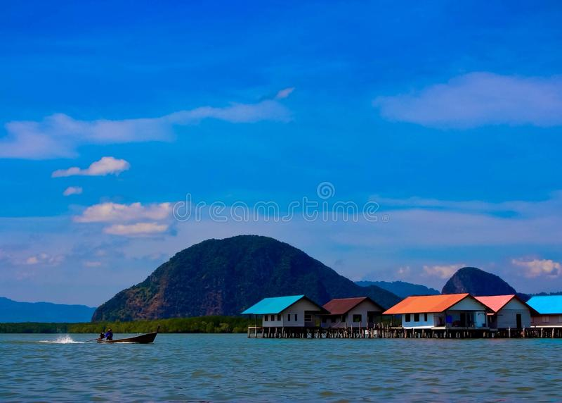 Widok Ko Panyi wyspa, Phang Nga prowincja, Tajlandia obraz royalty free