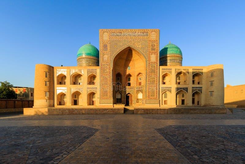 Widok Kolonu meczet przy zmierzchem, Bukhara, Uzbekistan zdjęcia stock