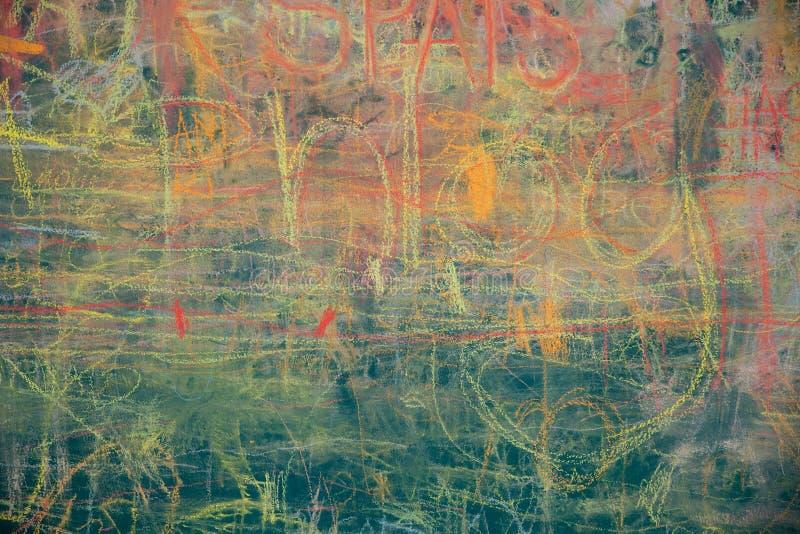 Widok kolorowy chalkboard zdjęcie royalty free