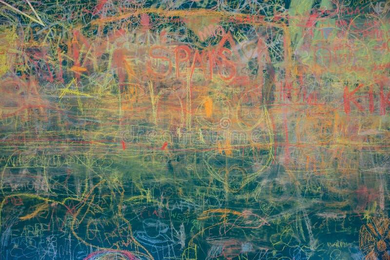 Widok kolorowy chalkboard zdjęcie stock