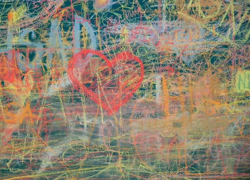 Widok kolorowy chalkboard zdjęcia royalty free