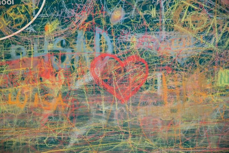Widok kolorowy chalkboard obrazy royalty free