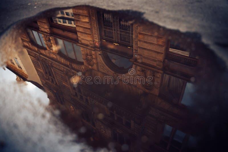 Widok kolorowy Praga Europe grodowy i stary miasteczko z czerwonymi dachówkowymi dachami, republika czech Poj?cie podr?? fotografia royalty free