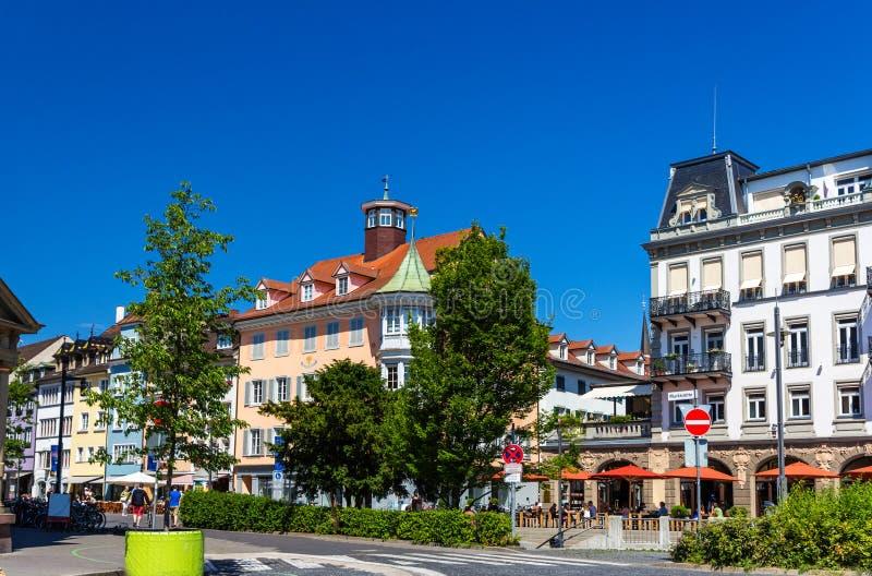 Widok Konstanz centrum miasta, Niemcy obraz stock