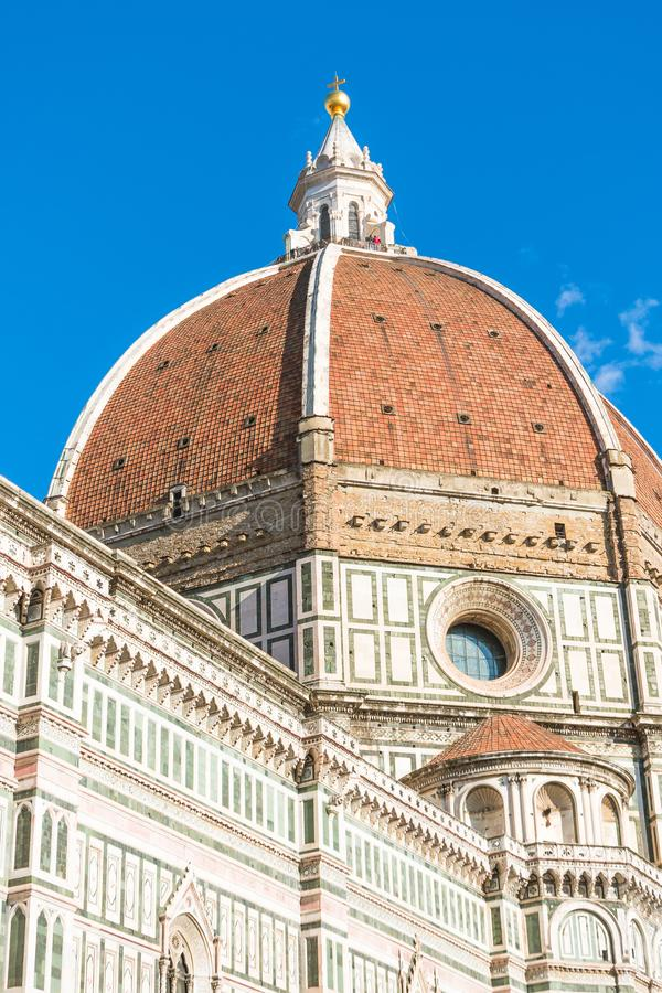 Widok kopuła Katedralny Santa Maria Del Fiore w Florencja, Włochy obraz stock