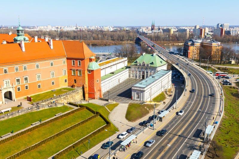 Widok Królewski kasztel na Grodowym kwadracie w Starym miasteczku Warszawa, Polska fotografia stock