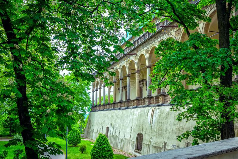 Widok królowej Anne ` s lata pałac w Praga, republika czech zdjęcia royalty free