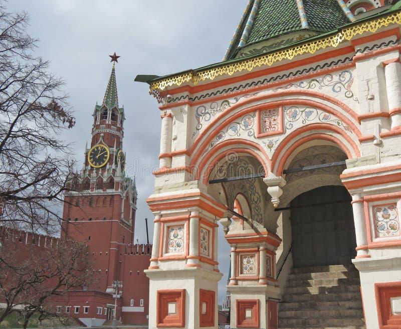 Widok Kremlin w Moskwa obrazy royalty free