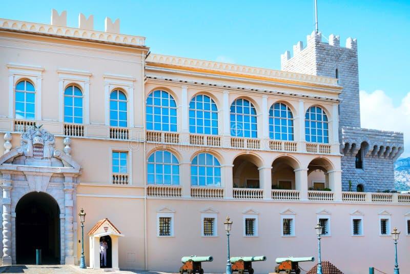 Widok książe ` s pałac w monaco, Monaco Wrzesień 2017 zdjęcia royalty free