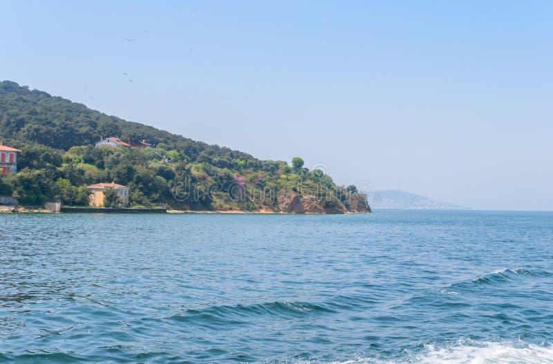 Widok książe ` s wyspy i morze Marmara, Turcja zdjęcia royalty free