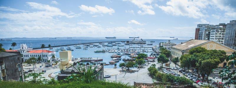 Widok Lacerda winda w Salvador, Bahia, Brazylia zdjęcie royalty free