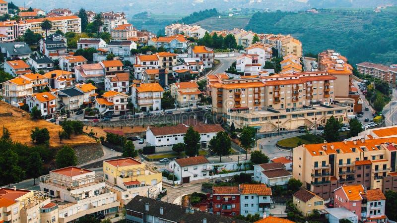 Widok Lamego stary miasto w północnym Portugalia Podróż obrazy royalty free