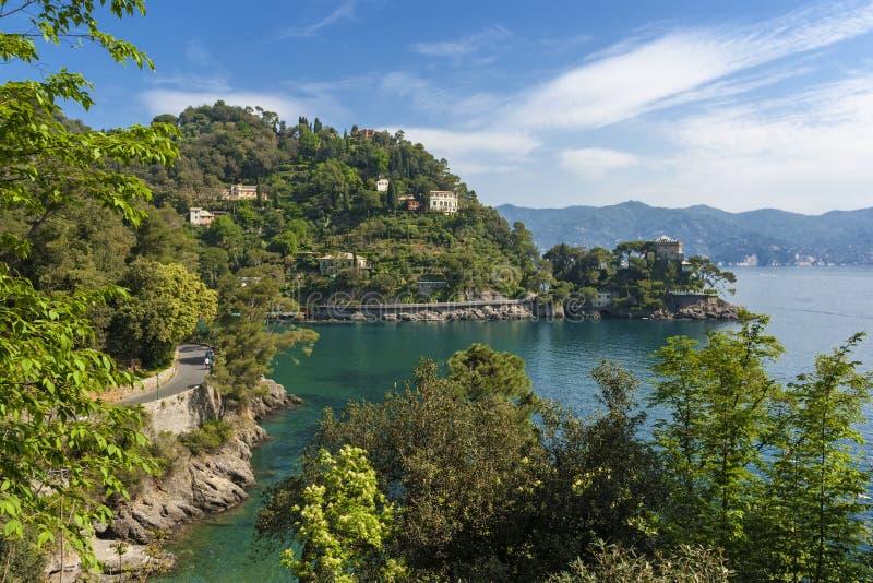 Widok Liguria w Włochy fotografia stock