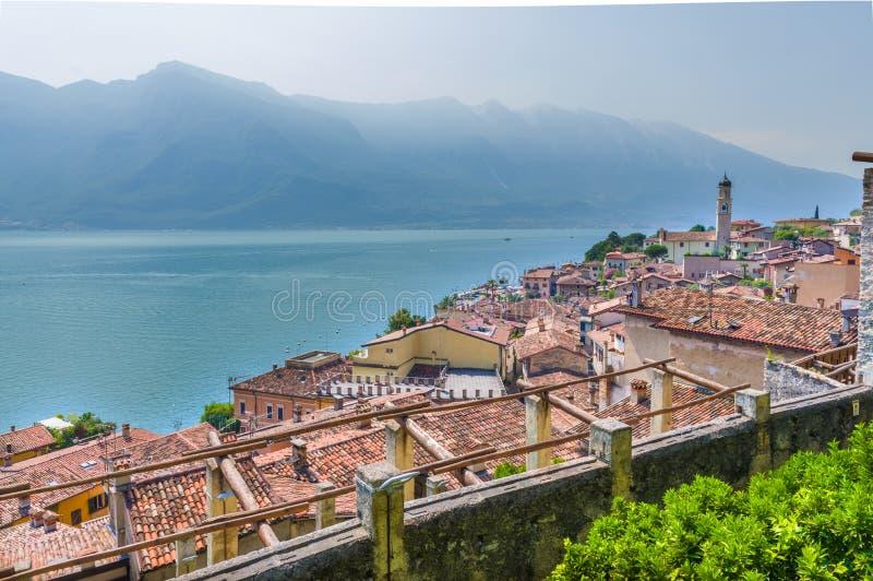 Widok Limone sul Garda zdjęcia stock