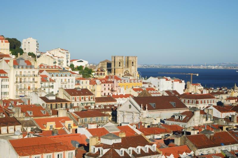 Widok Lisbon od wzrosta obraz stock