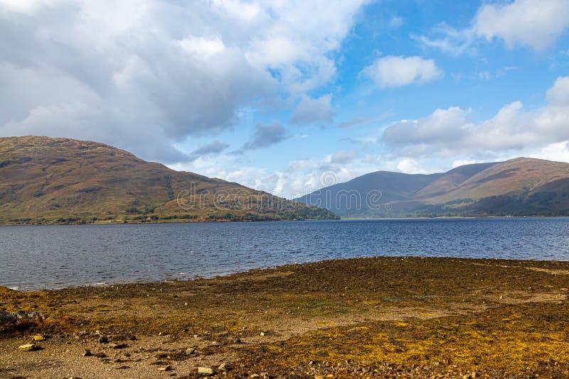 Widok Loch Linnhe zdjęcie stock