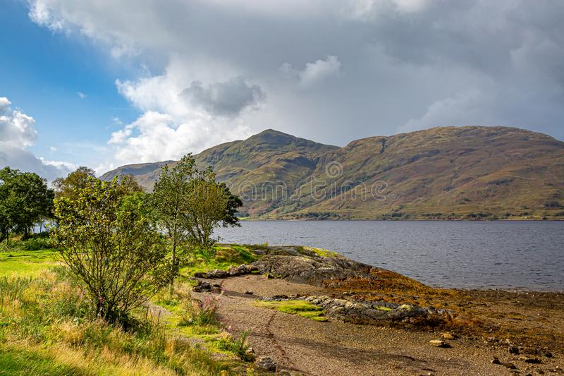 Widok Loch Linnhe obrazy royalty free