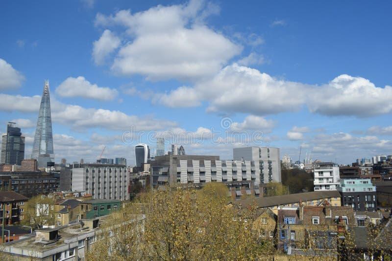 Widok londond linia horyzontu, czerep fotografia royalty free