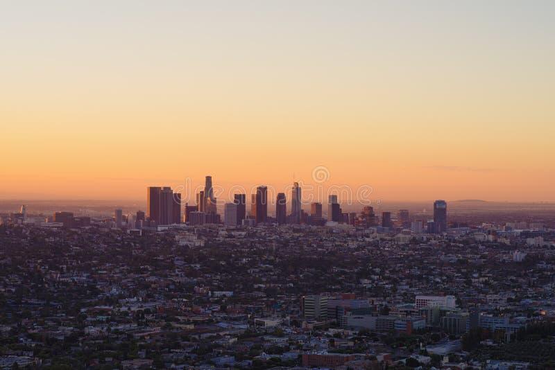 Widok Los Angeles od Griffth obserwatorium fotografia stock