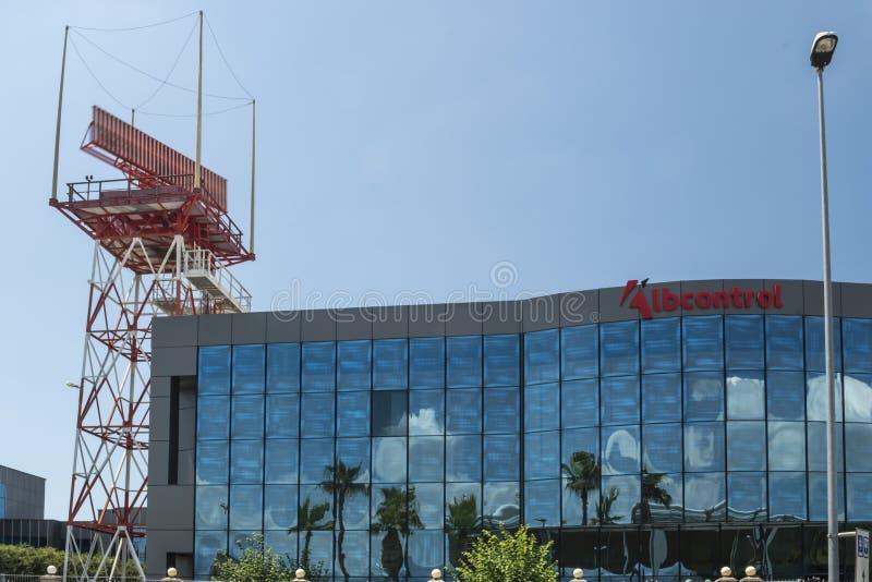 Widok Lotniczej nawigacji usługi Albania budynek (Albcontrol) obraz stock