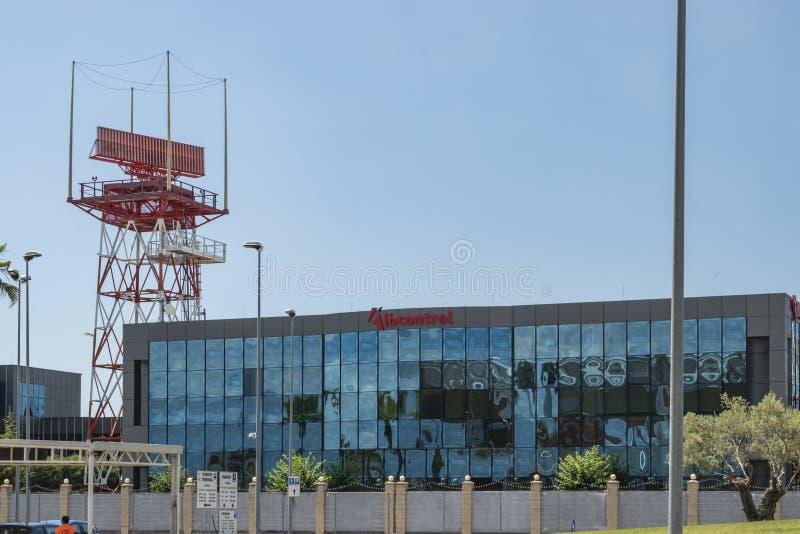 Widok Lotniczej nawigacji usługi Albania budynek (Albcontrol) zdjęcia stock