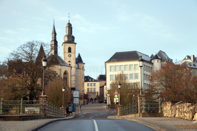 Widok Luksemburg miasteczko zdjęcia royalty free