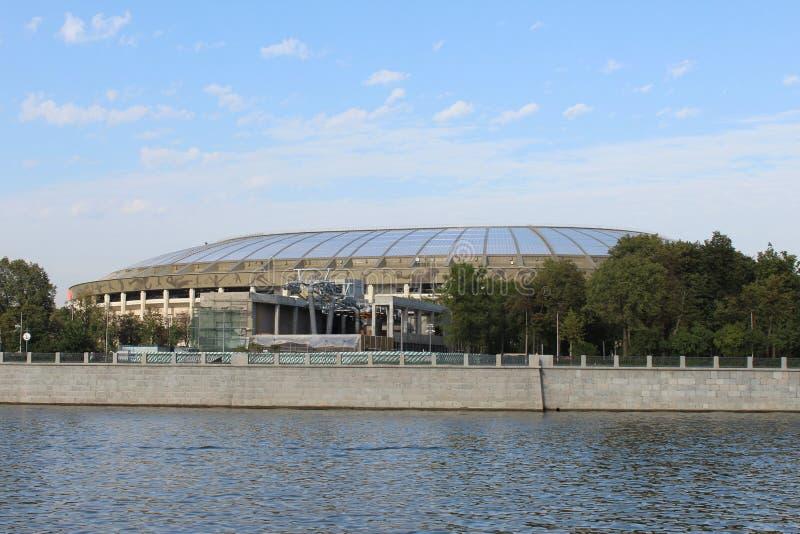 Widok Luzhniki stadium od statku od Moskwa rzeki zdjęcia stock