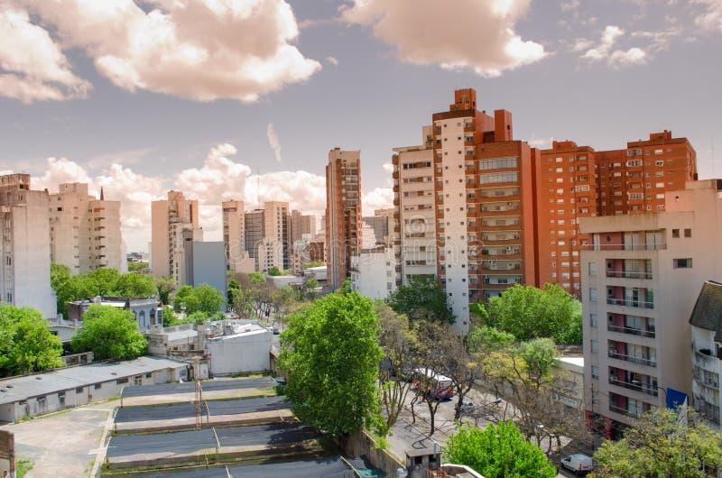 Widok mały miasto obraz stock