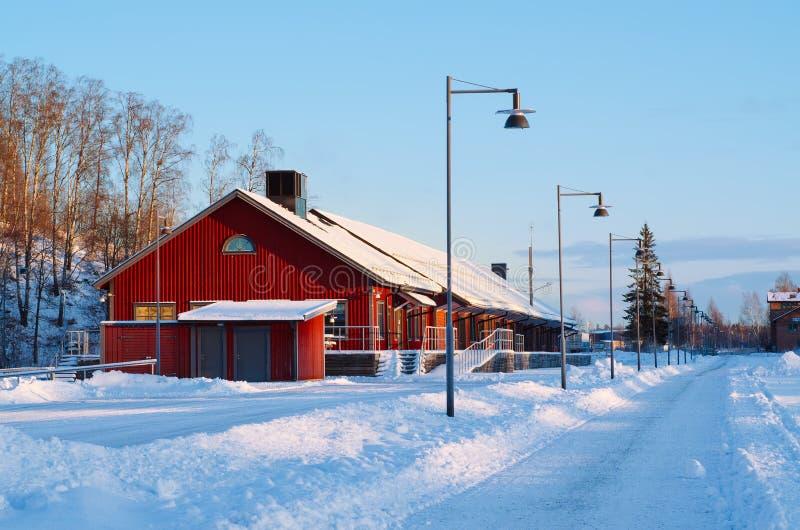 Widok mały szwedzki miasteczko zdjęcia stock