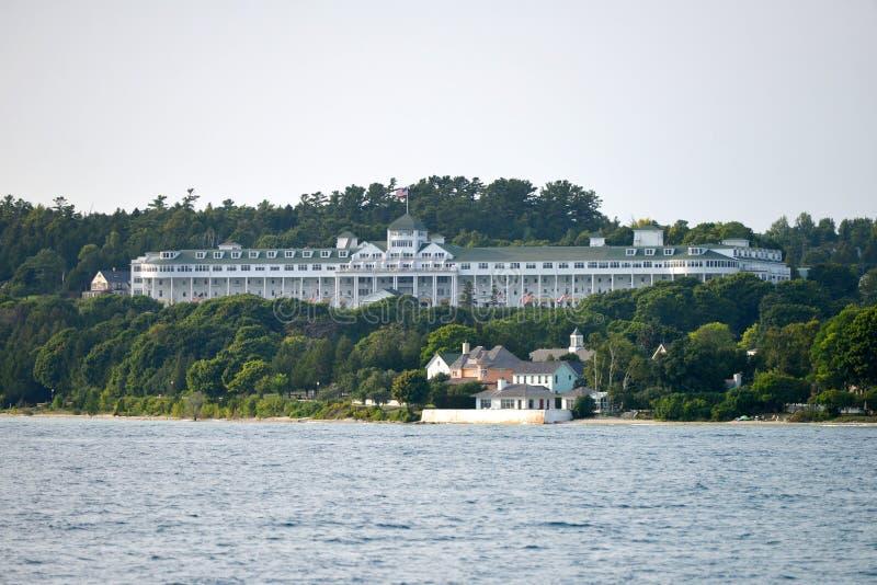 Widok Mackinac wyspy uroczysty hotel zdjęcie stock