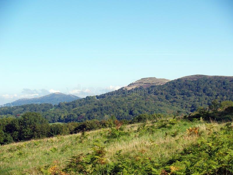 Widok Malvern wzgórza Worcestershire Anglia obrazy royalty free