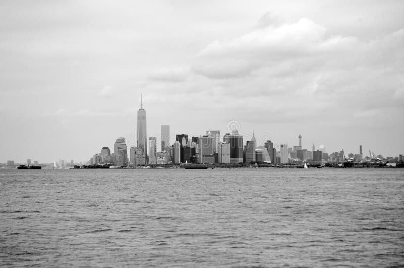 Widok Manhattan linia horyzontu obrazy royalty free