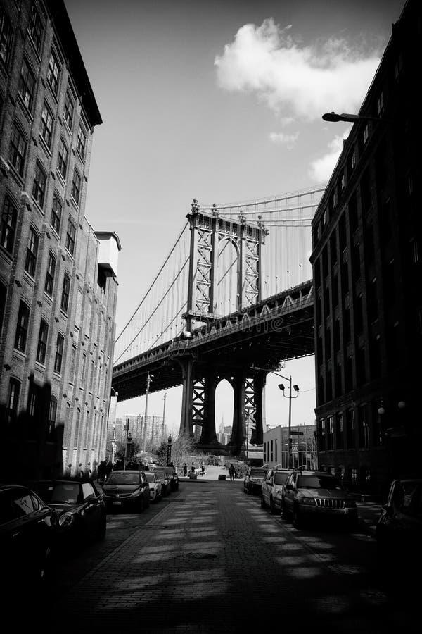 Widok Manhattan most w Miasto Nowy Jork zdjęcia royalty free