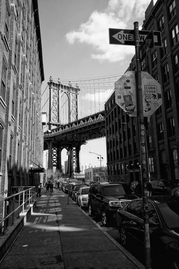 Widok Manhattan most w Miasto Nowy Jork obraz stock