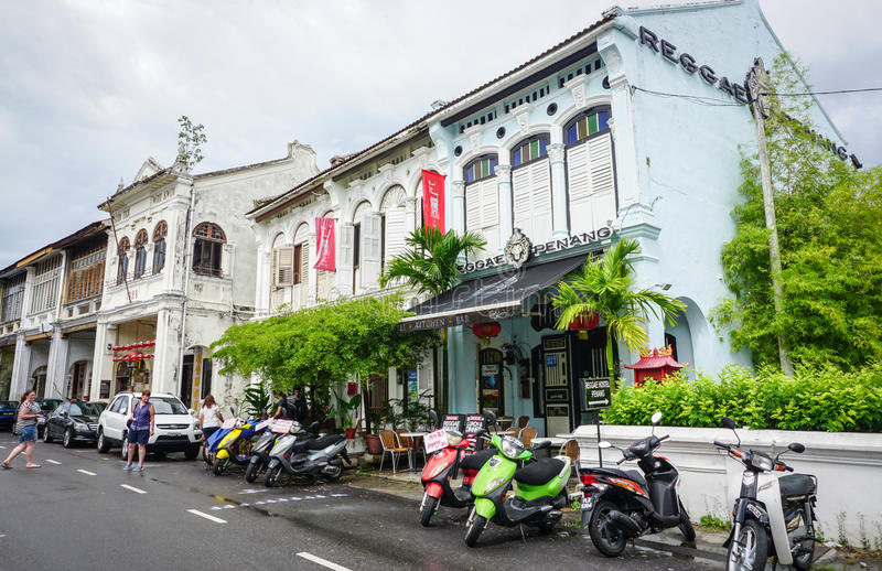 Widok miłość Ln przy Chinatown w Penang, Malezja obrazy royalty free