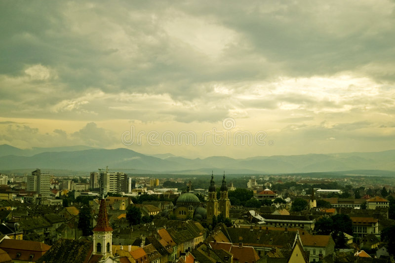 widok miasta fotografia stock