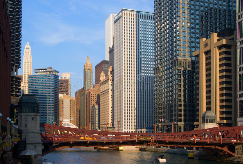 widok miasta chicago obraz stock