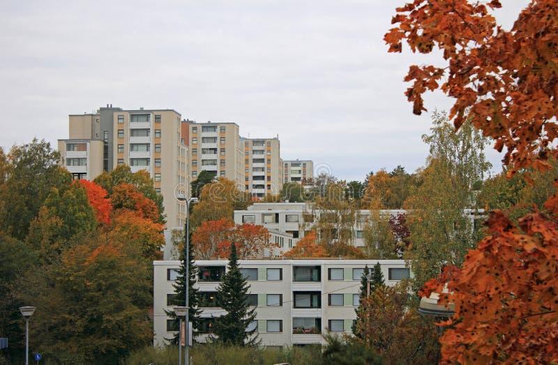 Widok miasta, Espoo, Finlandia obraz stock